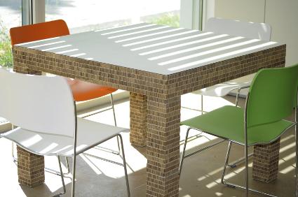 Tavolo riunioni in cartone alveolare 55100 - Mobili in cartone design ...